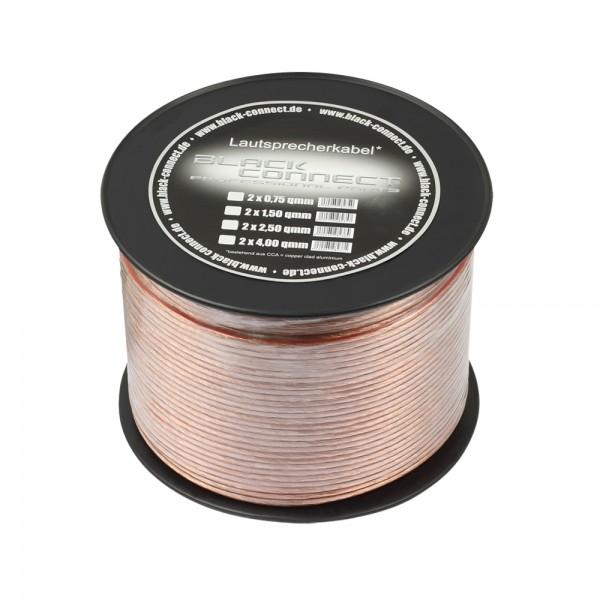 Lautsprecherkabel CCA 0,75mm² transparent 100m